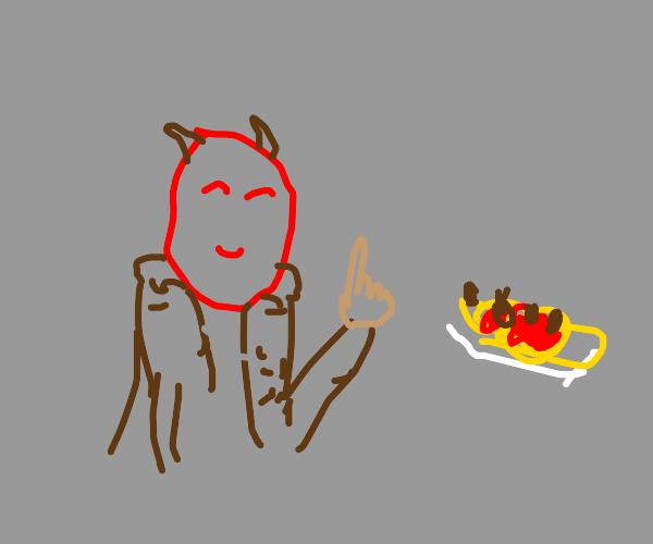 The devil likes pasta
