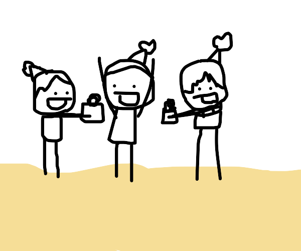 birthday on a beach