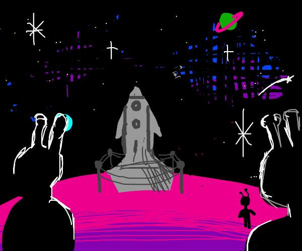 Statue on an Alien Planet