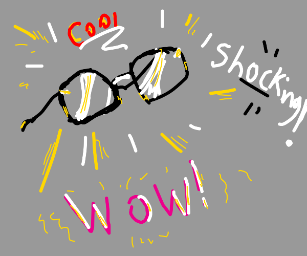 Very cool shocking glasses
