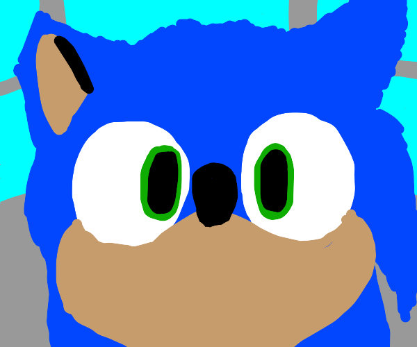 sonic is surprised by tomato asteroid