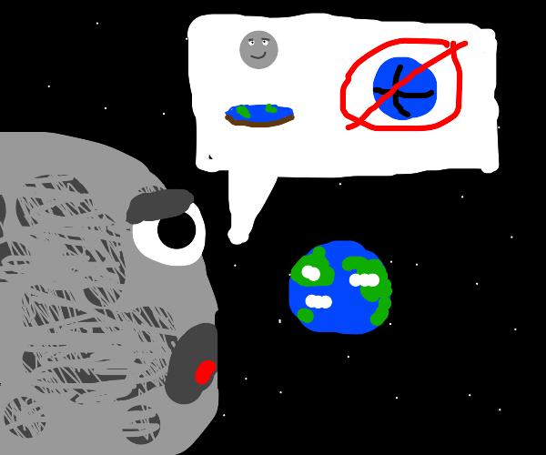 The Moon is a flat-earther
