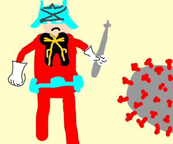 Char Aznable fighting Corona Virus