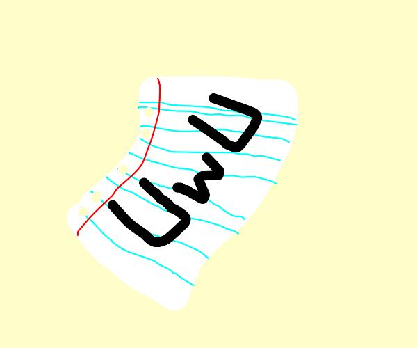 White cute UwU paper