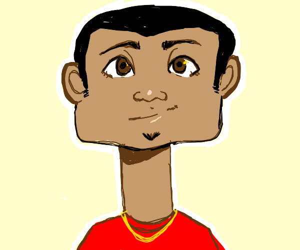 long-necked square head dude.