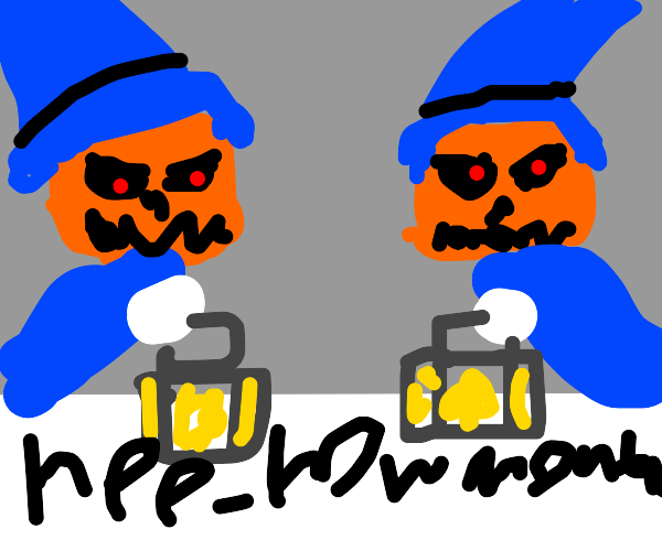 Reaper and 2 jack-o-lanterns asks about month