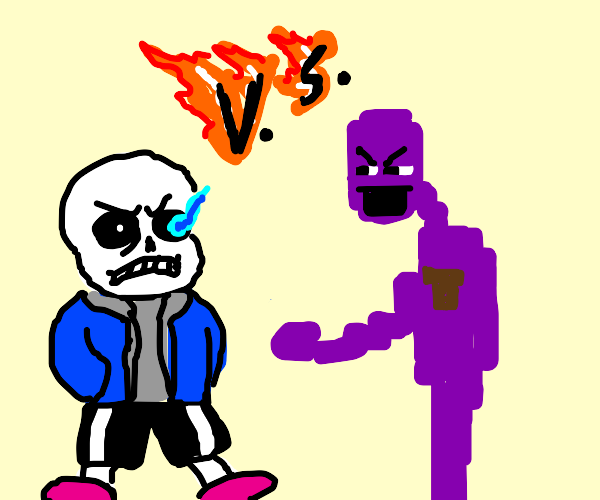 Sans vs. Purple Guy