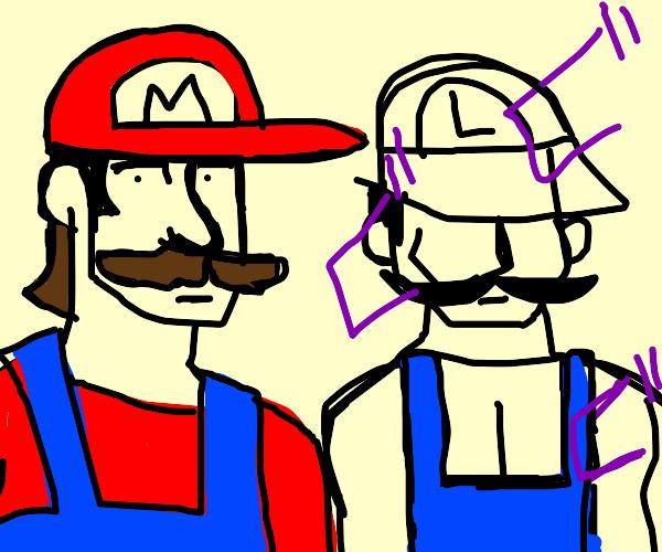 Mario is normal Luigi is a jojo fan