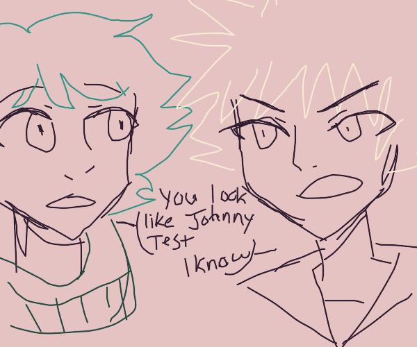deku and katsuki interact