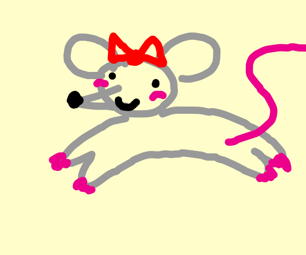 Adorable Mouse with a bow