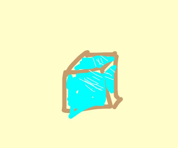 The crimson ice cube