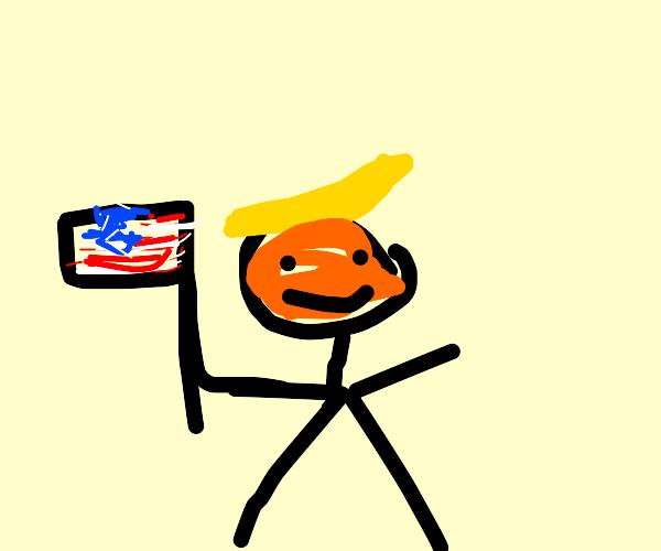 Maga shows flag.