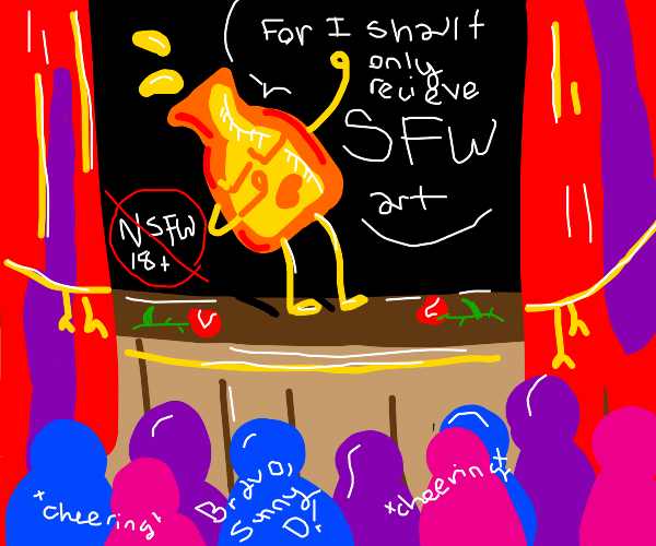 Sun D orange juice only wants SFW art
