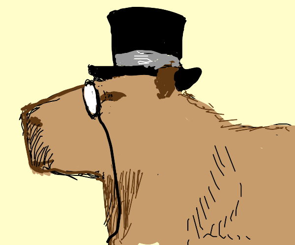 Retro Capybara