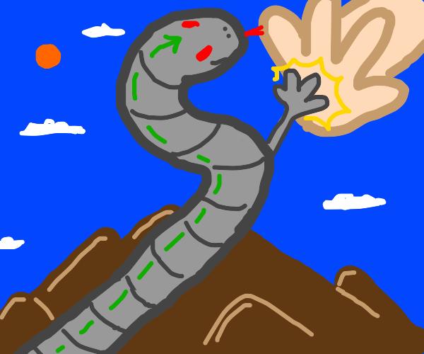 snake mecha gets a high five