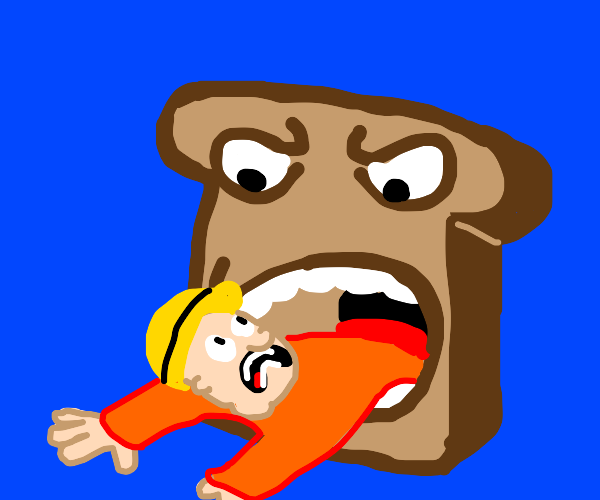 Carpenter eating Toast