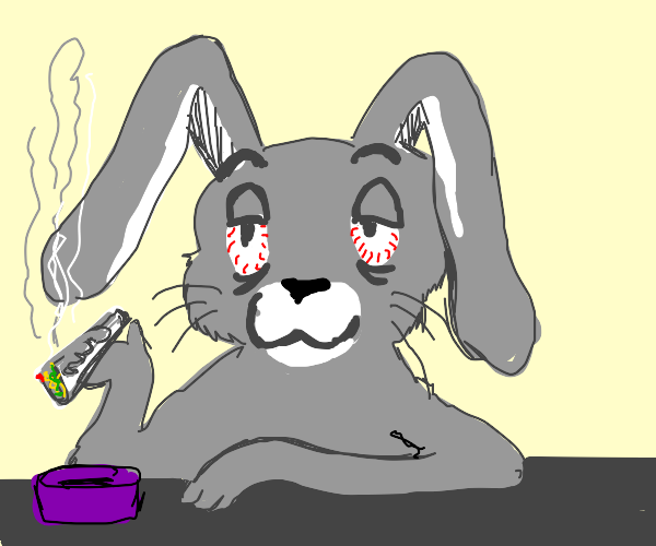 Bugs Bunny high as balls (elevated af)