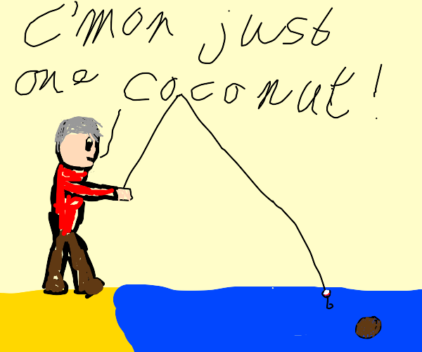 Fishing for a Coconut