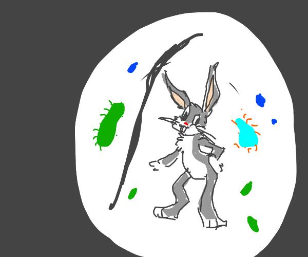 Microscopic Bugs Bunny