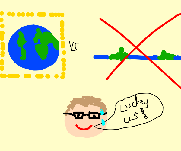 man is glad the earth is round