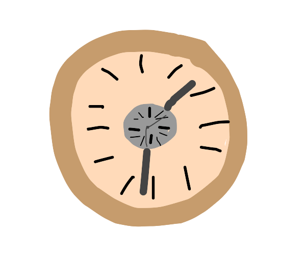 A clock within another clock.