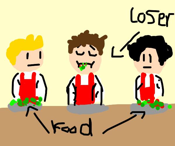A food temptation challenge-biggest loser