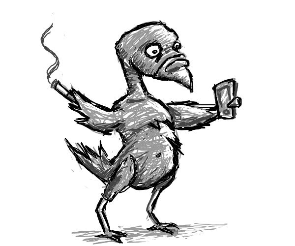 pidgeon standiing like a human