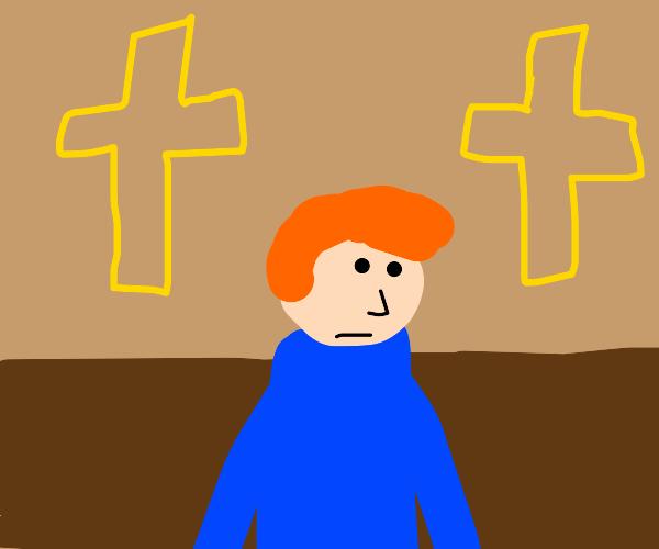 A normal boy in church