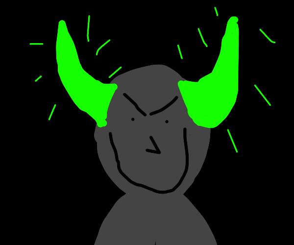 Glowing horns in the dark