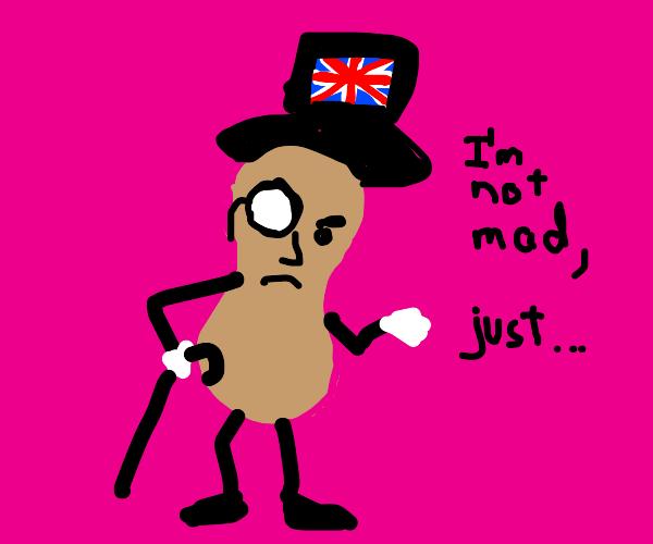 disappointed british peanut
