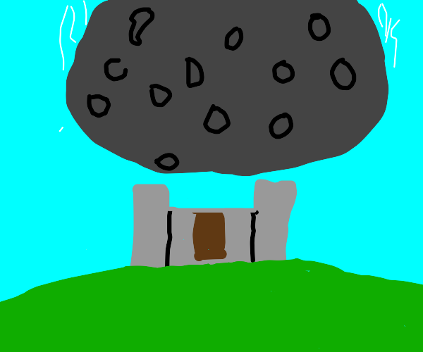 100 Ton Asteroid Lands on Castle