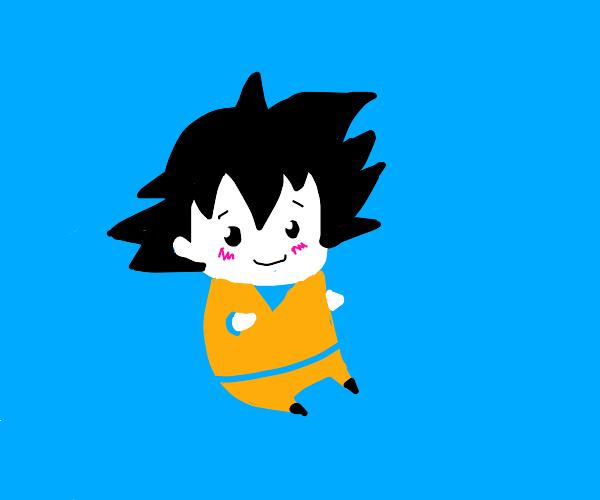 goku blushing