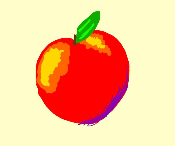 Abnormally long and dark peach