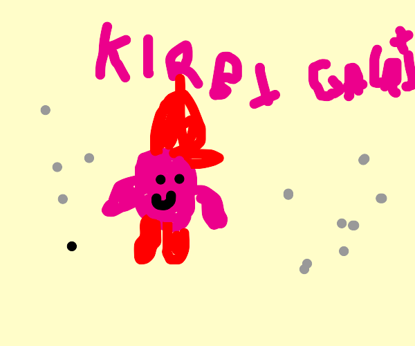 kirby in what looks like mario galaxy