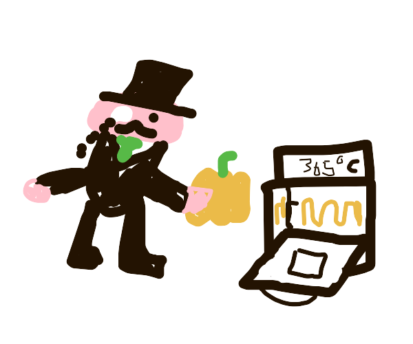 CEO baking a Pumpkin