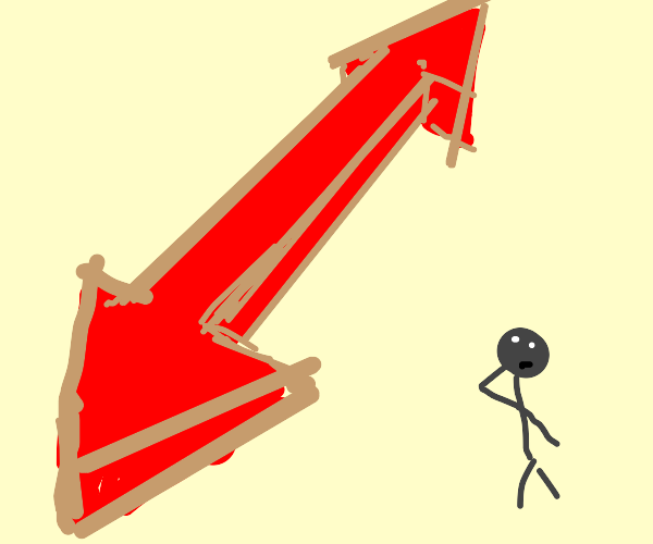 looking at an arrow that points both ways