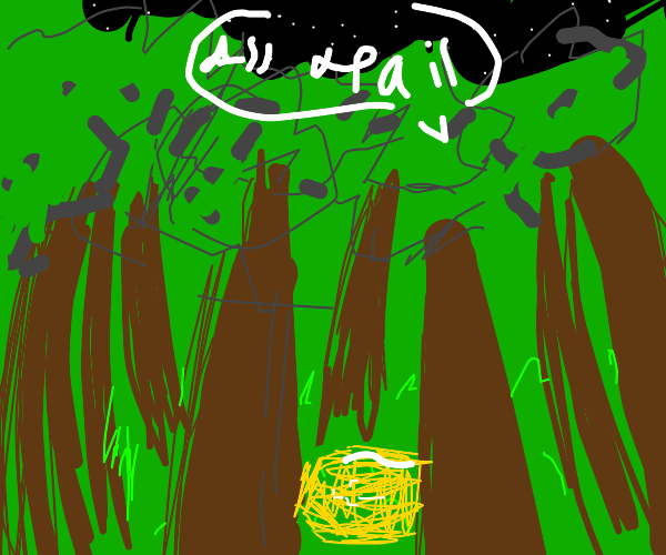 The forest worships a butter coffin