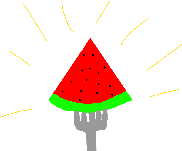 Eating a Watermelon with a Fork