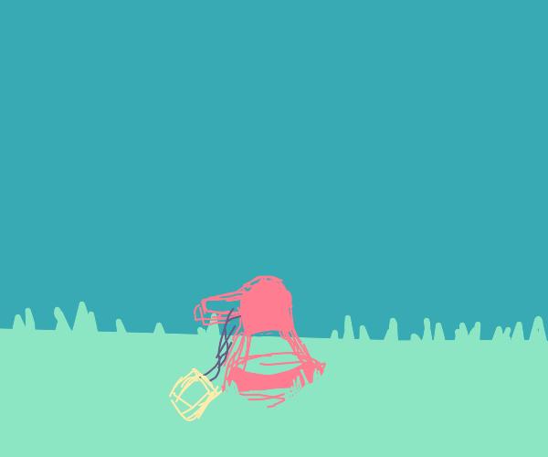 Upside down megaphone