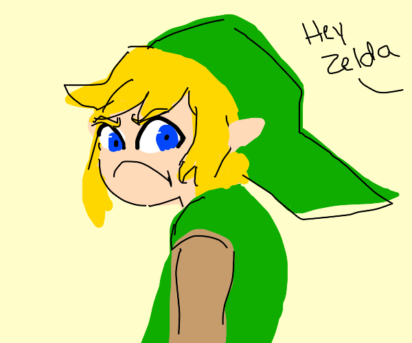 Link angry about being called Zelda