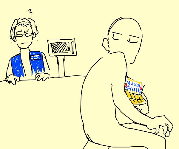 stealing gum from walmart