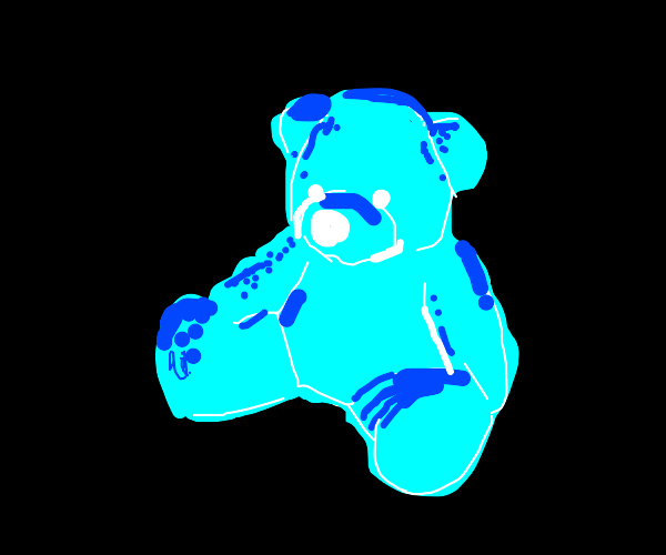 teddy bear with inverted colours