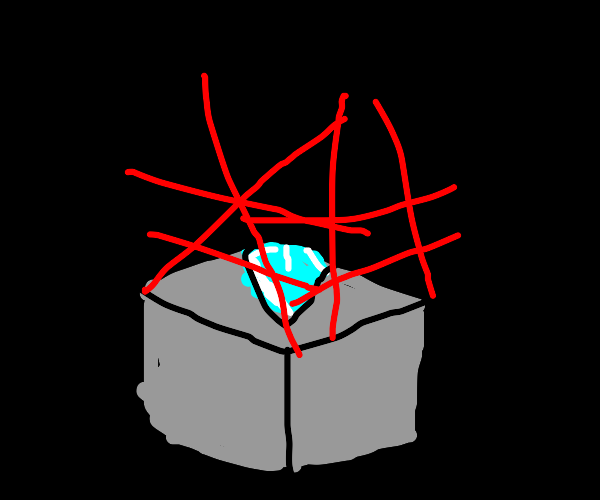 Diamond guarded by lazers