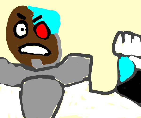 Cyborg (Teen Titans) is upset