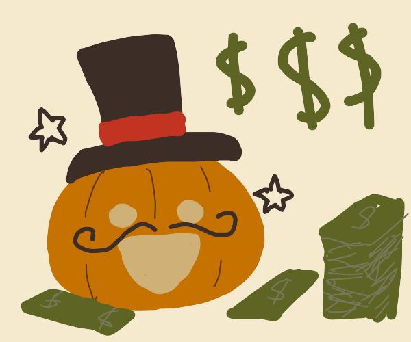 Capitalist solds pumpkin