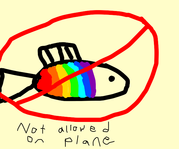 no gay fish allowed on this plane