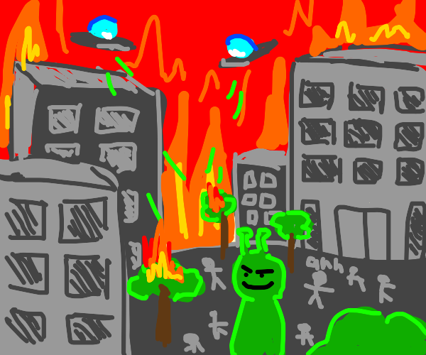 alien taking over the world