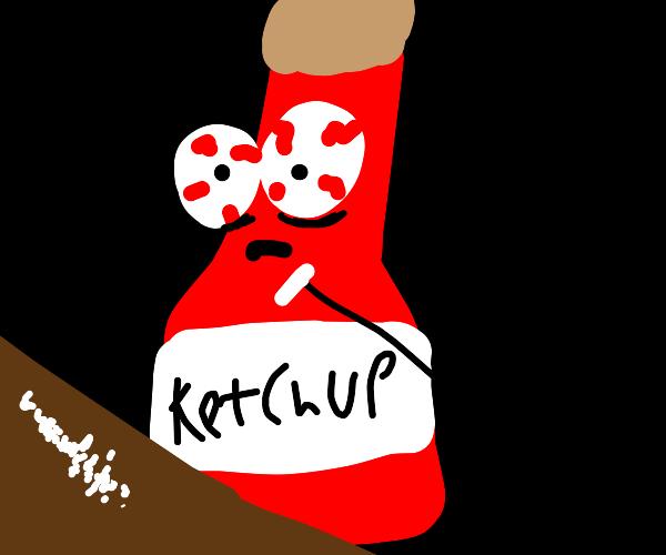 ketchup bottle has a drug problem