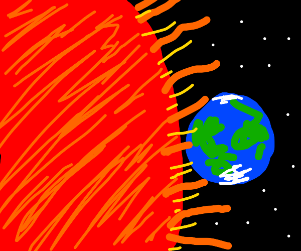 earth when the sun goes red giant