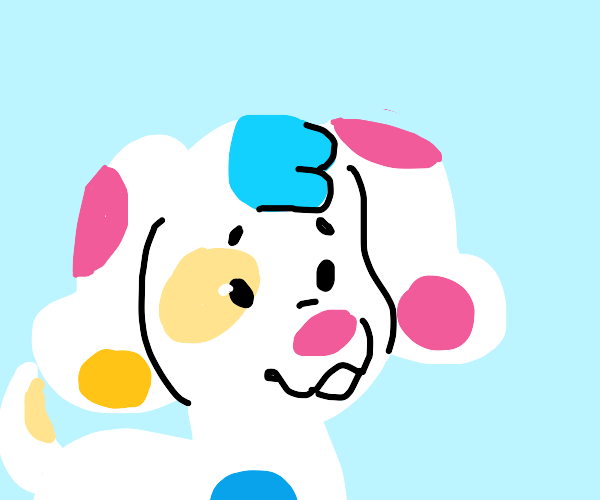 The polka dot puppy from Blue's Room